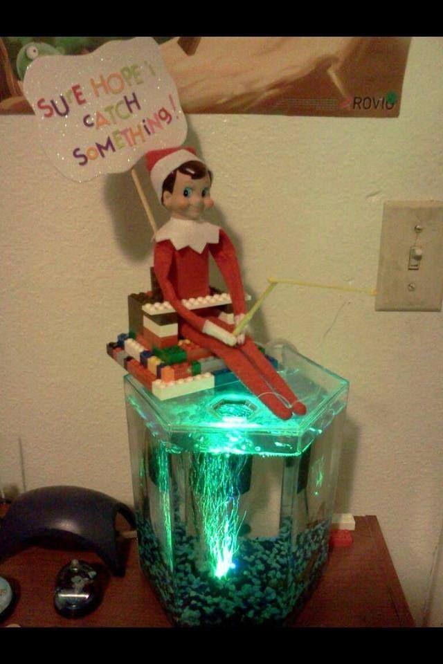 Elf on the shelf fishing elfinn pinterest for Elf on the shelf fishing