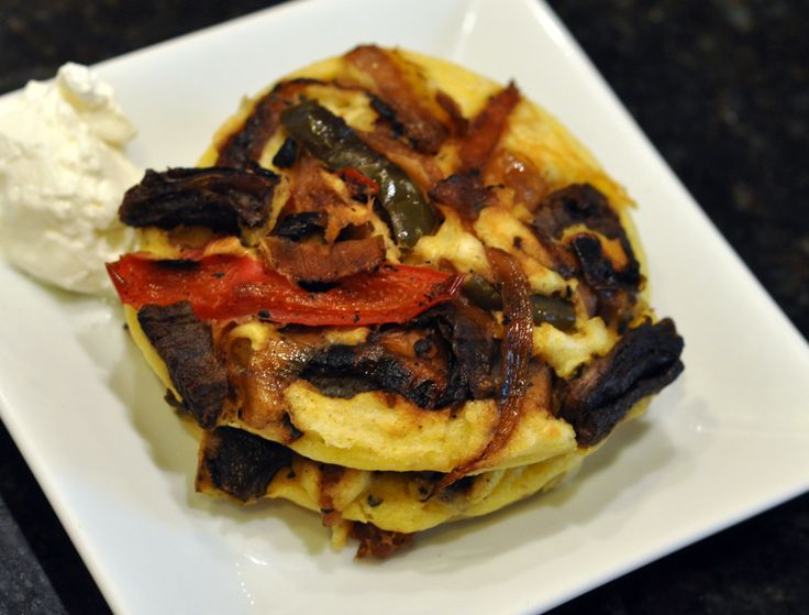 "Pancakes - Corn ""Tortilla"" Pancakes with Roasted Red & Green Pe..."