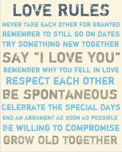 Love rules wedding ideas pinterest for Relationship advice for couples
