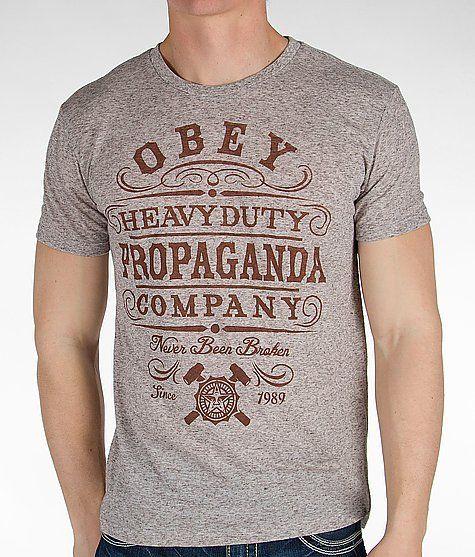 Obey Heavy Duty Propaganda T Shirt Vintage Retro Pinterest