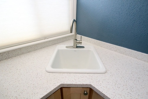 small sink not necessarily for corner laundry room Pinterest