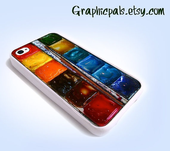 iPhone 4 Case Watercolor painting Box palette  by Graphicpals, $15.00