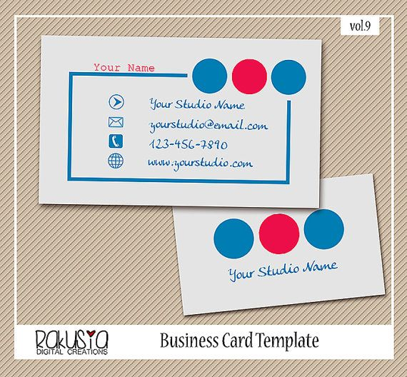 INSTANT DOWNLOAD graphy Business Card Template for