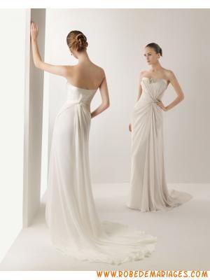 Robe de mariée fourreau en mousseline  Robe de mariée 2013 ...