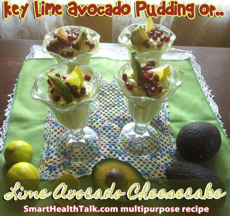 Key lime avocado cheesecake pudding | Gluten Free Group | Pinterest