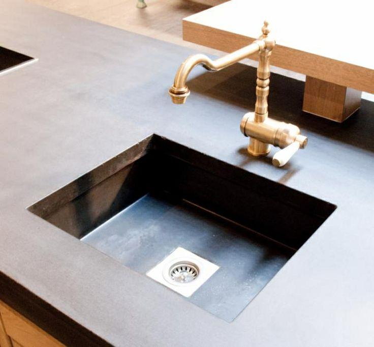 Zelf Keuken Maken Beton : Betonnen aanrechtblad Dreamkitchen Pinterest