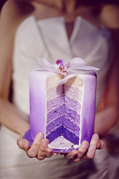 Ombre purple cake