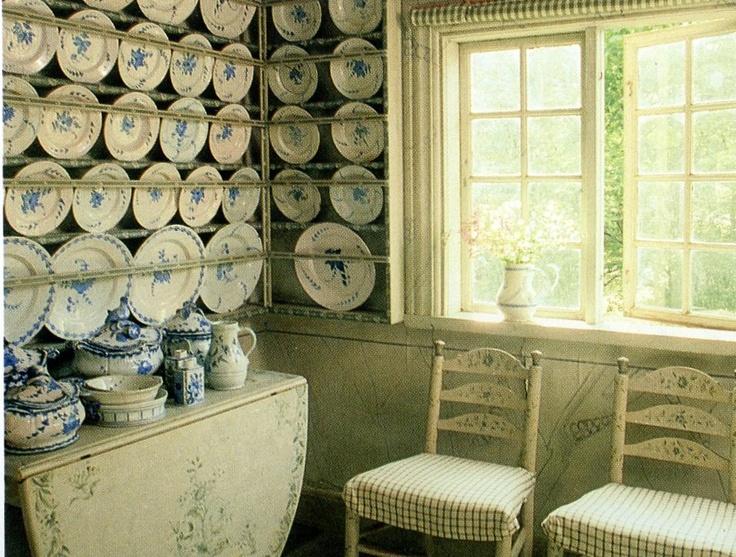 swedish interiors vintage plates cups pinterest