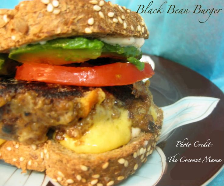Black bean burger   Get in my belly!   Pinterest