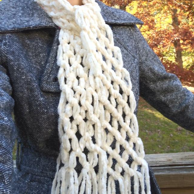 No Knit Scarf Patterns : no-knit scarf I Made Pinterest