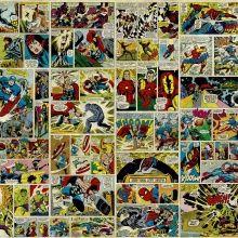 fototapet avenger comic strip tapeter golv