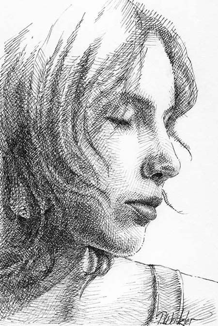 Line Art Shading : Cross hatching artist related keywords suggestions