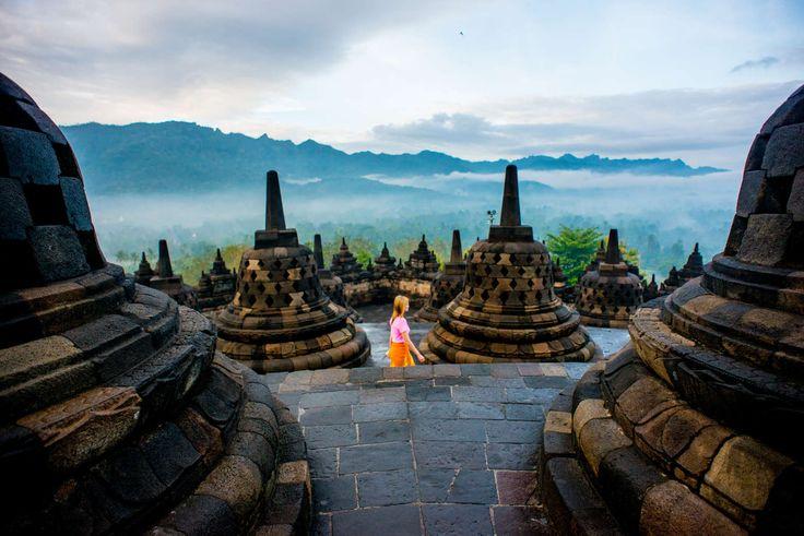 Borobudur, a Buddhist temple, Yogyakarta, Indonesia – A volcano, a temple, a shr