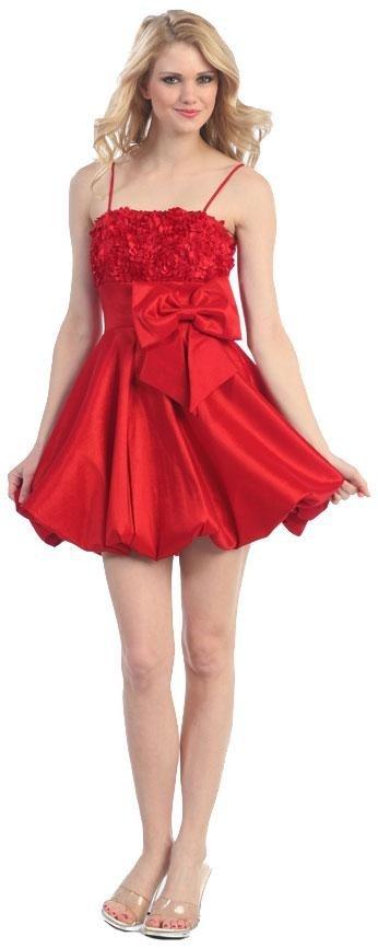 Tragen roten kurzen prom Kleider, die Aufmerksamkeit zu fangen