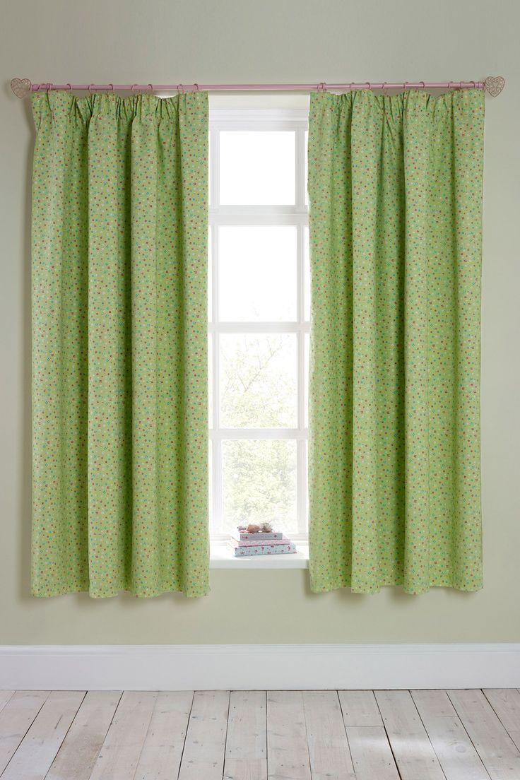 Next green curtains | Seren's Room | Pinterest