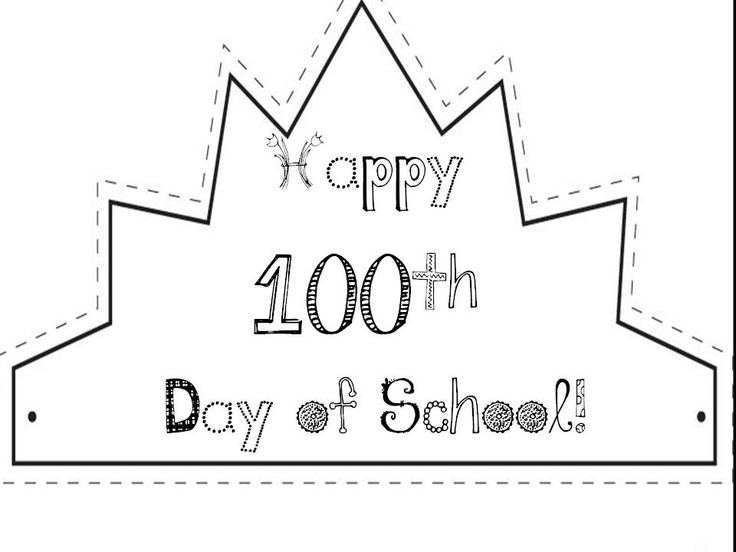 ... , color, cut, and attach to a sentence strip for a 100th Day Crown