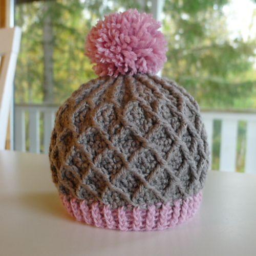 Ravelry: free pattern Lattice Hat crocheted baby ...