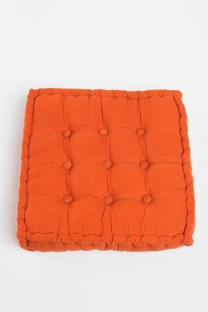 Floor Cushions Or Pillows : Tufted Corduroy Floor Pillow