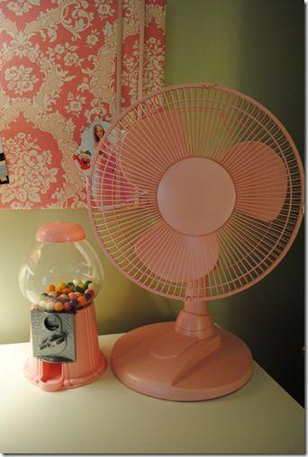 DIY pink fan