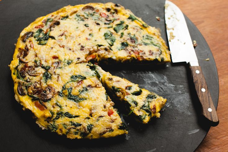 Breakfast or #Brunch? Try this SPINACH, MUSHROOM & BACON FRITTATA ...