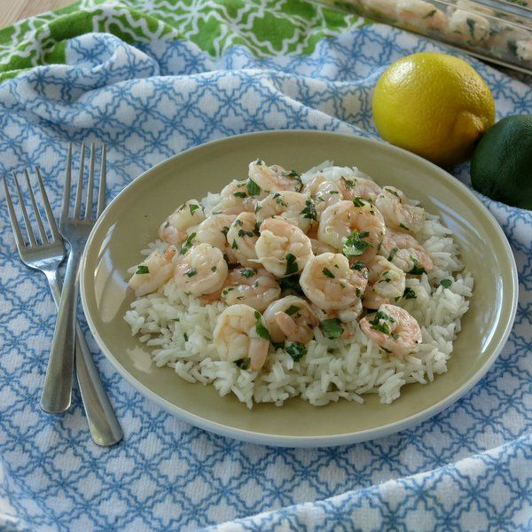 Garlicky Roasted Shrimp with Lemon, Lime and Cilantro