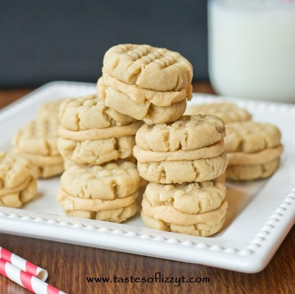 Peanut Butter Sandwich Cookies - Tastes of Lizzy T's, my recipe I had ...