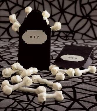 Bones made with pretzel stick and marshmallows!!! Cool for a Monster ...