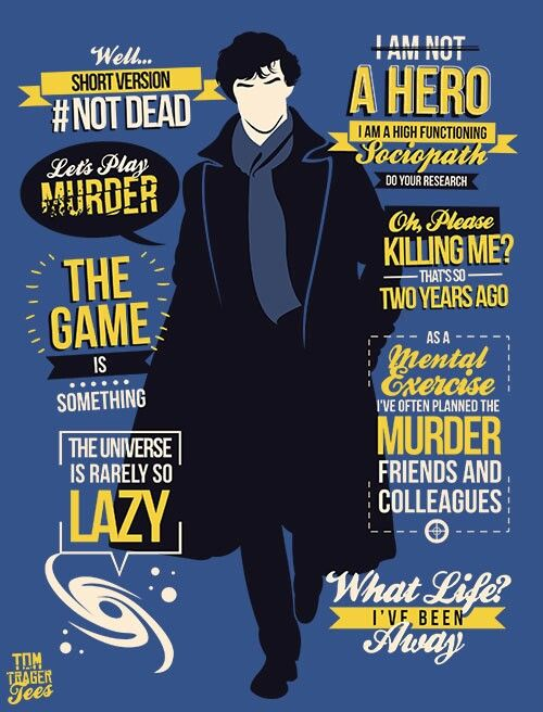 Elementary Art Show Poster Sherlock BBC Quotes 1#...