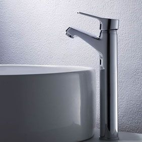 Contemporary Brass Bathroom Sink Tap Chrome Finish(Tall) T0546H