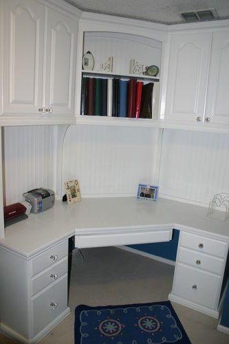 Built in corner desk | Home office | Pinterest