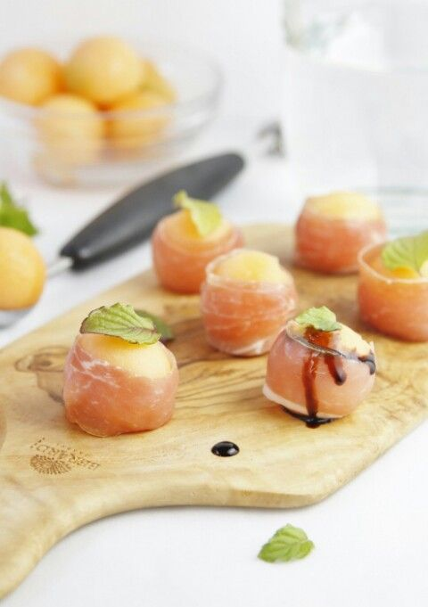 Prosciutto Wrapped Melon Balls | Sweet Basil Catering | Pinterest