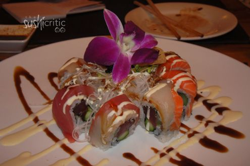 Angel Roll: pepper seared tuna and asparagus inside and in the same ...