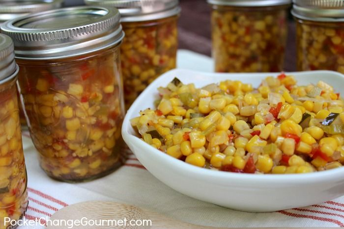 Pickled Corn Relish #pickles #canning