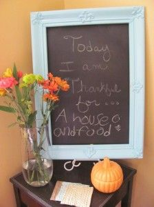 How to make a recycled faux-ish chalkboard