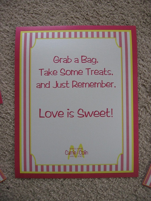 CANDY BUFFET...Love the saying for the | Wedding Ideas | Pinterest