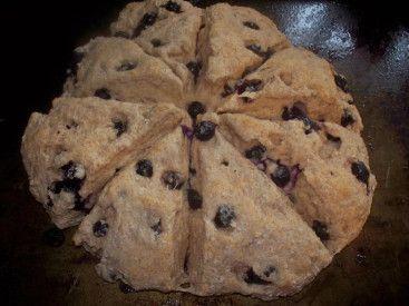 Low fat blueberry scones | How Sweet It Is | Pinterest