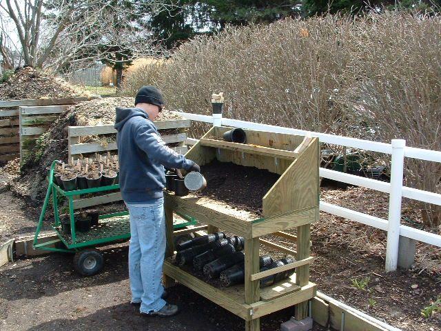 Free Potting Bench Plans Plants Gardening Pinterest