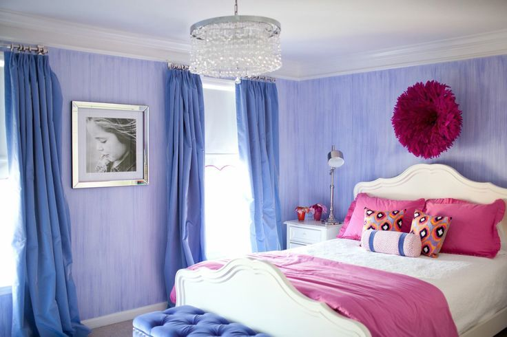 girl's room-love this blend of pink and purple