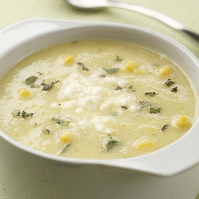 Golden Summer Squash and Corn Soup #wintersoup #Cake