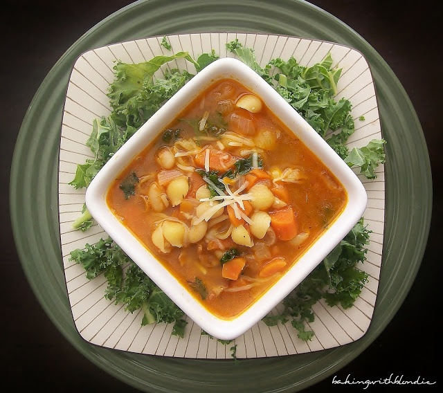 ... : White Bean and Bacon Soup with Fresh Kale and Mini Pasta Shells