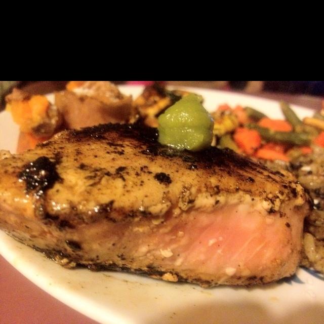 tuna seared tuna with wasabi butter sauce seared ahi tuna seared tuna ...