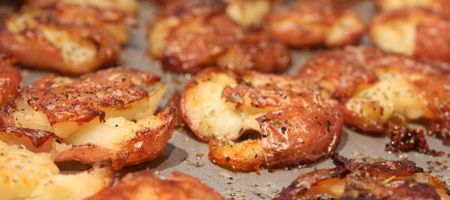 Ridiculously Crispy Smashed Potatoes | Let's Get Cooking! | Pinterest