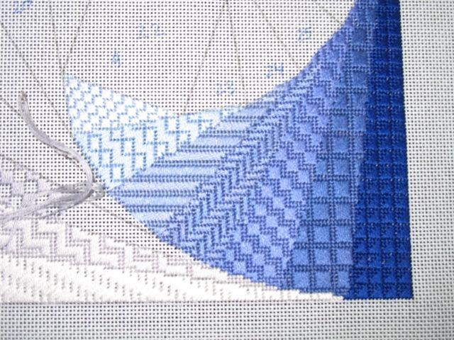 Variations of basic needlework stitches Knitting and stitching and