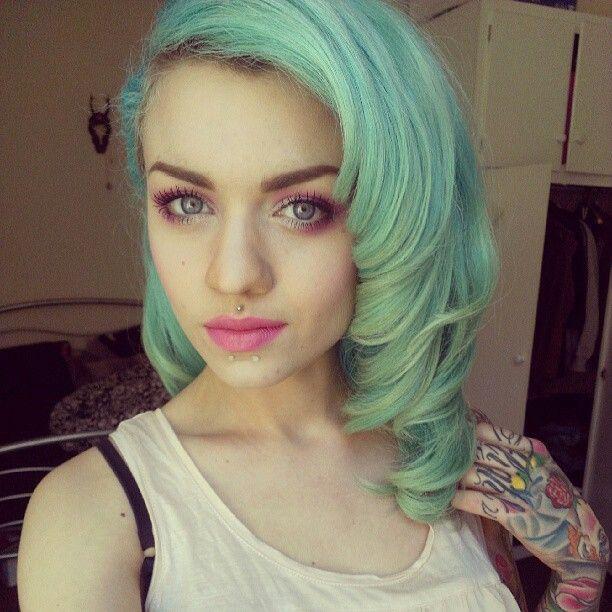 Pastel Green Hair Tumblr