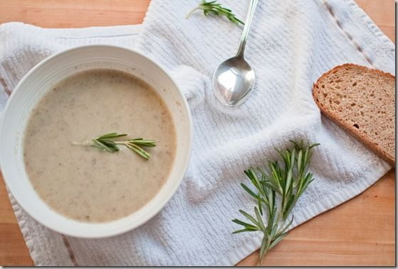 Mushroom, Leek, and Rosemary Soup | Culinary Delights | Pinterest