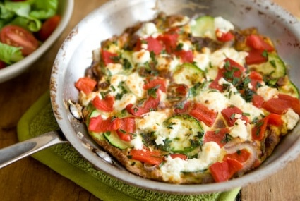 Zucchini, Goat Cheese And Basil Frittata Recipes — Dishmaps