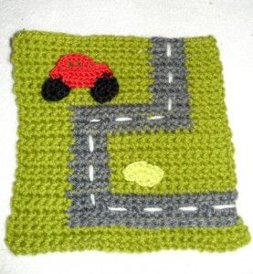 Crochet Quiet Book car page. Crochet can you say?!! Pinterest