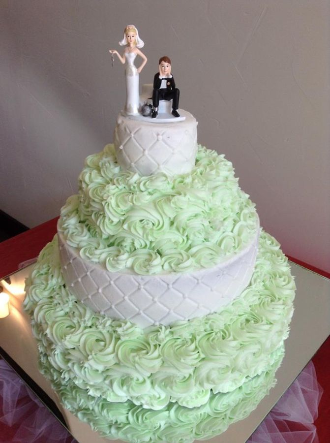 Wedding Cake Designs With Buttercream Icing : Mint Buttercream Icing wedding cake Cakes ~ Highly ...