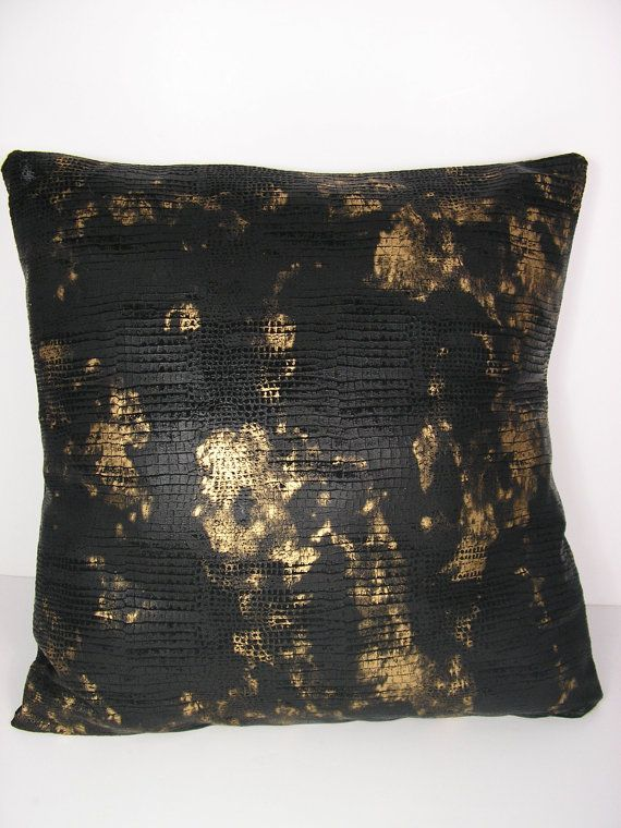 Decorative Throw Pillow Covers Black and Gold Throw Pillow Covers Fau?