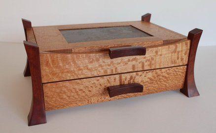 Unfinished wood box asian style